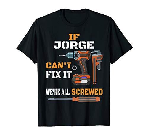 (Mens Jorge Funny Fix It T Shirt Handyman Sarcastic Repair Job Tee)
