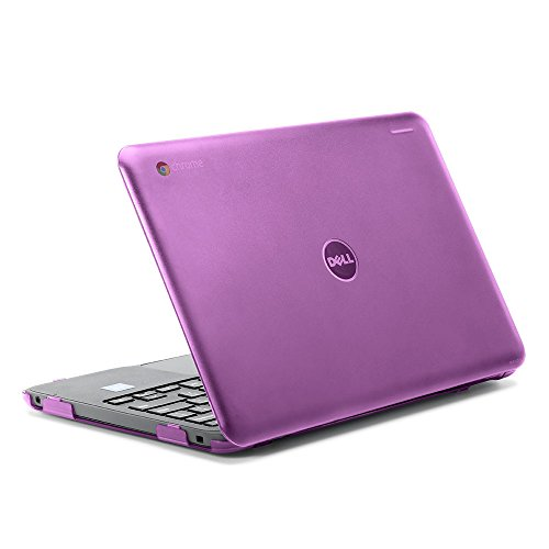iPearl mCover Hard Shell Case for 2017 11.6 Dell Chromebook 11 3180 Series Laptop (NOT Compatible with 210-ACDU / 3120/3189 Series) (Purple)