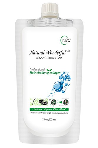 Natural Wonderful Repair Hair Mask Deep Conditioner Dry Scalp Split End Treatment for All Hair Types 200ml