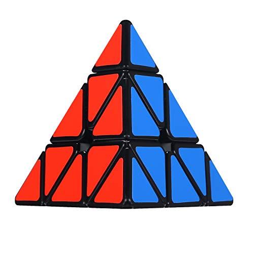 (Olicity Pyramid Cube Speed Triangle Puzzle Cube, Black)