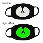 Fomei 5 Pack Cool Luminous Unisex Cotton Blend Anti Dust Face Mouth Mask Black for Man Woman