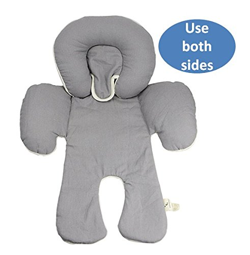 DorDor & GorGor Reversible Infant Head Support, Organic Cotton (Gray)