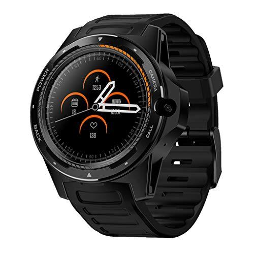 MChoice❤️Zeblaze Thor 5 1.39 in AMOLED Pedometer Heart Rate Monitor GPS BT4.0 Smart Watch (Black)