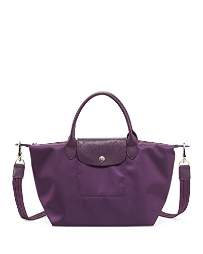 Longchamp Le Pliage NEO - Bolsa con asa superior (tamaño mediano), color morado