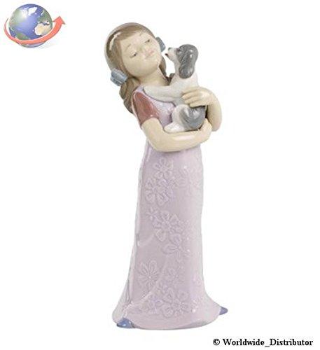 Amazon.com: Nao de porcelana by Lladro Puppy Cuddles (Girl ...