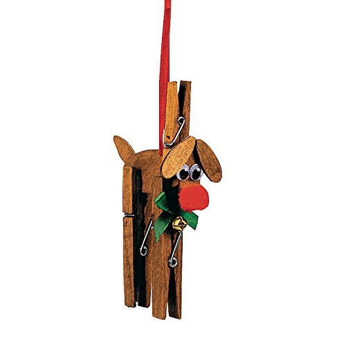 (Reindeer Clothespin Christmas Ornament Craft Kit by)