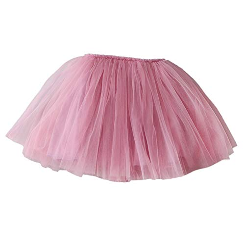 Dasior Baby Girls Kids Tulle Ballet Skirt Dance Party Princess Tutu Underskirt (6 Months to 8 Years) M Blushing Pink by Dasior