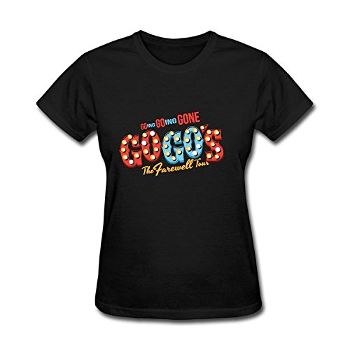 Arriasa Women's T-Shirt The Go Gos Farewell Tour Logo Short Sleeve