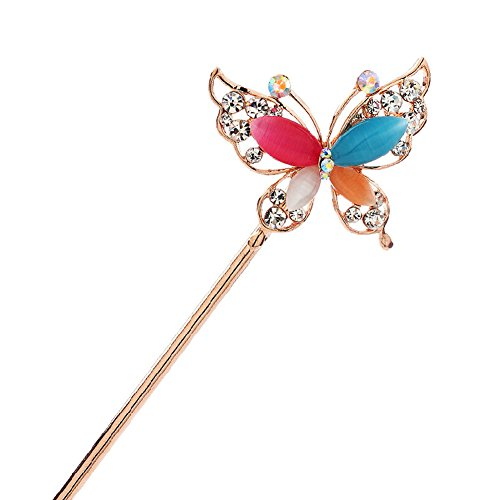 Rhinestone Butterfly Retro Women Girls Hair Pin Hair Stick (1920 Hairstyles For Long Hair)