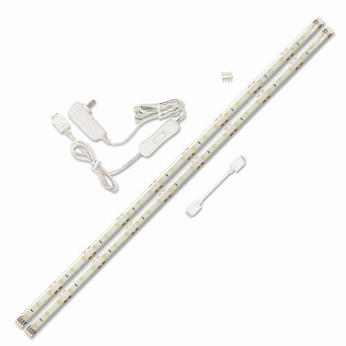 (Ecolight LED Light Strip Starter Kit - 36,000 Hours Lamp Life - Linkable - White)