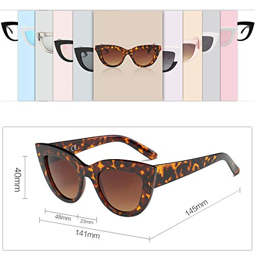 95f62dd42fd64 SOJOS Retro Vintage Cateye Sunglasses for Women Plastic Frame Mirrored Lens  SJ2939