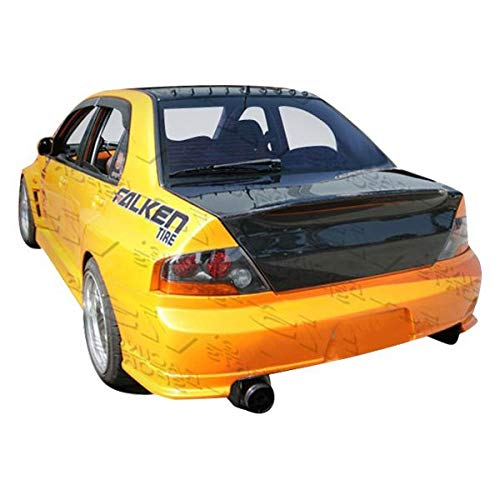 VIS Racing (VIS-DSU-414) Demon Style Trunk Carbon Fiber - Compatible for Mitsubishi EVO 8/EVO 9 2003-2007 (2003 2004 2005 2006 2007 | 03 04 05 06 07) ()