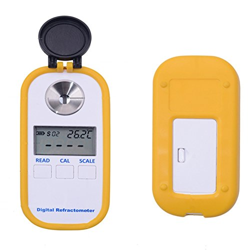 Refractometer Digital Coffee Concentration Meter with BRIX/TDS Dual Scale Display, Temperature Compensation Function, Multifunction Portable Refractometer for the Food Industry and Agricultural Fruit