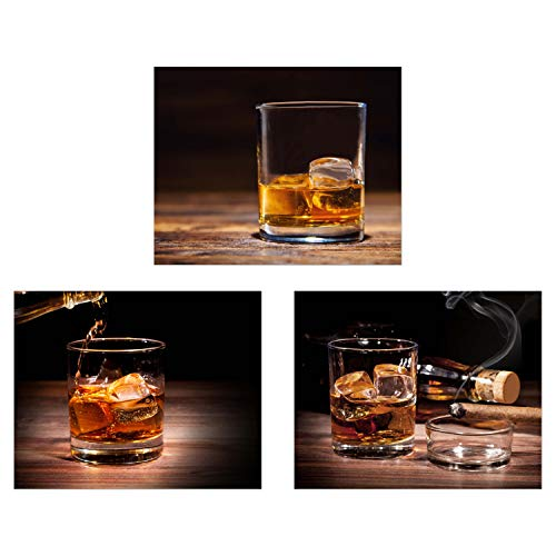 Summit Designs Whiskey Cigar Wall Decor - Set of 3 (8x10) Poster Photos - Scotch Bourbon Vintage