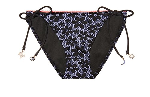 Victoria's Secret Teeny Bikini Bottom, Large, Black Daisy Lace ()