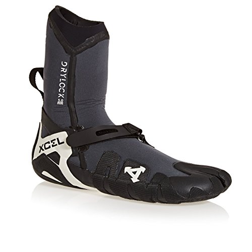 Xcel Drylock 5mm 2018 Split Toe Wetsuit Boots UK 9 Gunmetal/Black by Xcel