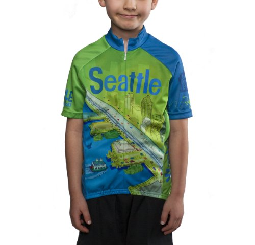 Larry Gets Lost in Seattle Cycling Jersey, Kids'