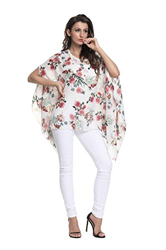 10021 T Le In Taglie Chiffon Per Style Colori Casual 6 Ampia Wear shirt Forti Beach Top Camicia Boho Donne Oksakady HqSdXwX