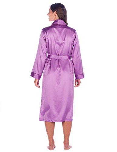 Noble Mount Bata de Satén para Mujer(Regular Fit) Violeta