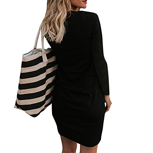 Dresses LETG Bodycon Black Women Casual Short Dress Stretch Sheath Sleeve Ruched Mini OE Ppgwdxg