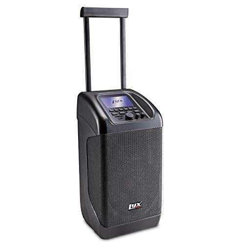 LyxPro Traveler Portable PA Speaker | 100W Rechargeable PA System w/ 8