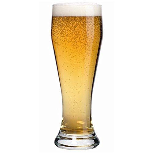 Poker Pilsner Glass - KooK FNG Pilsner Highball Beer Glasses 15 Ounces - 8 Pack