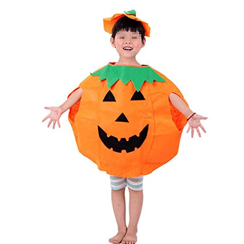 Party Supplies Pumpkin Halloween Costume for Kids Children Cosplay Costumes M ()