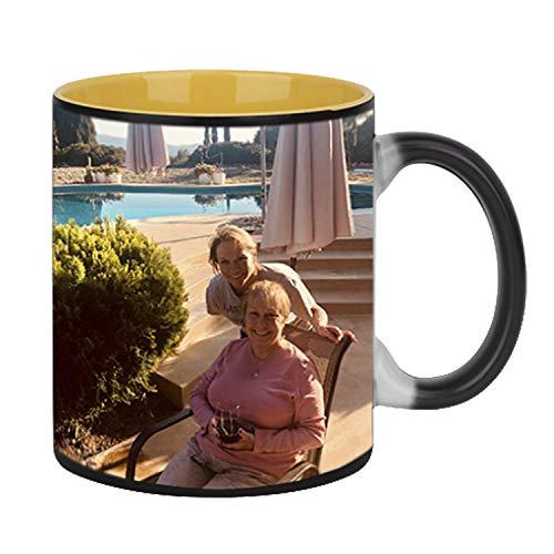 Custom Magic (Magic Photo Ceramic Coffee Mugs, Personalized Custom Heat Sensitive Color Change Morning Coffee Mug Milk Water Tea Cup Add YOUR PHOTO&TEXT,Perfect Thanksgiving/Christmas/Birthday Keepsake gifts)