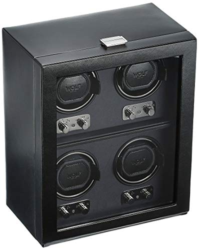 Watch Winder Slot (WOLF 270602 Heritage 4 Piece Watch Winder with Cover, Black)
