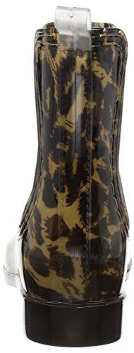 léopard Caoutchouc effet Caspar Léopard Noir Laqué Bottines Forme Classique Pour belle Sbo014 Femme En PPfwqHxT