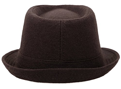 Simplicity Unisex Fedora Hats for Women Manhattan Fedora Hat, Brown by Simplicity (Image #6)