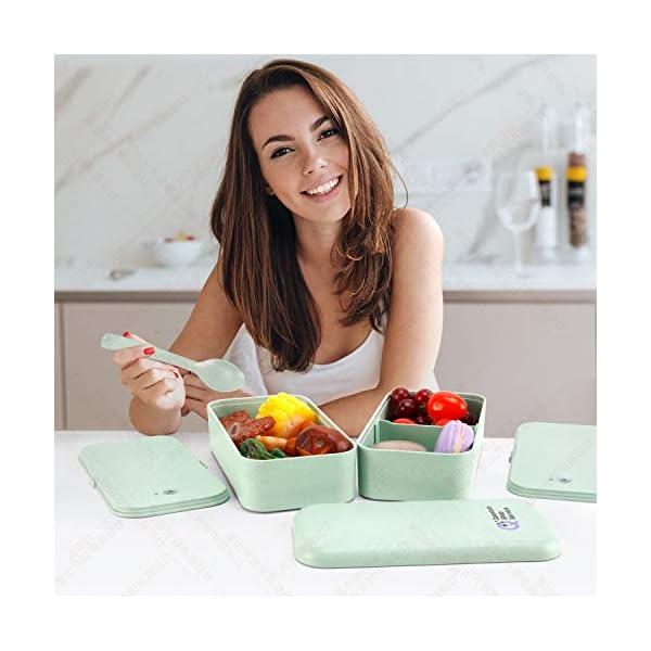 Quantum Lunch Box – salvagoccia e Senza BPA – Jausen Box per Bambini e Adulti – Bento Box con Posate, Bottiglia d'Acqua… 7 spesavip