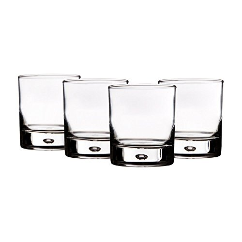 Home Essentials Red Series 10 Oz. Bubble-bottomed Round Cut Drinking Glasses, Set of 8 (Drinking Glasses Bubble)