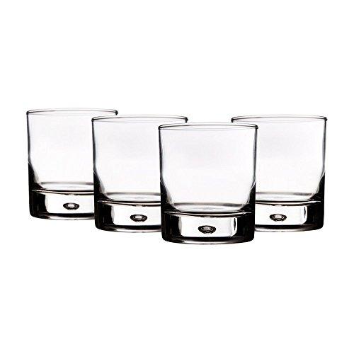 4 Cocktail Glasses 10oz (Red Series Bubble) + Bonus Gift Boutique Microfiber Cloth! For Sale