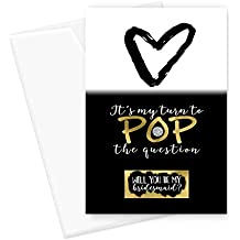 Gold Be My Bridesmaid Scratch Off Card Set (6 Pack) Pop the Question Maid of Honor