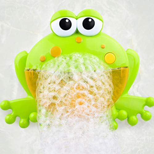 Cencity Bubble Machine,Tub Big Frog Automatic Bubble Maker Blower Toys with Music Song Bath Toy for Baby, for Boys, Girls