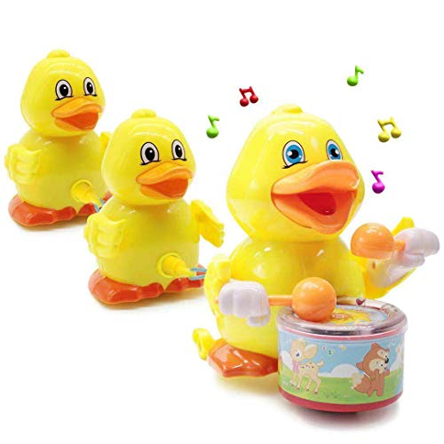 Lydaz Musical Duck Toy, Electronic Walking Duck Car Toys, Yellow Duck Pull Ducklings, Light up Toy for Boys Girls Baby Toddlers Kids ()
