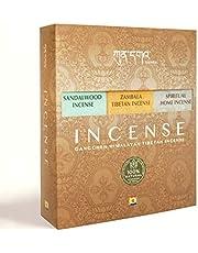 Kunga NgalSo Gangchen Himalayan Set Incensi Tibetani Arrotolati a Mano 100% Organici   120 Bastoni   Confezione da 6 scatole: Sandalo, Zambala, Spiritual Home, Vajrayogini, Padmasambhava, Tara.