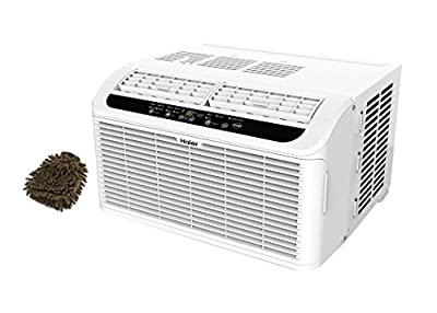 ESAQ406P Haier Serenity Series 6050 BTU 115V Window Air Conditioner with LED Remote Control (Complete Set) w/ Bonus: Premium Microfiber Cleaner Bundle
