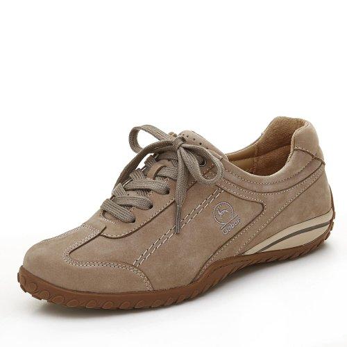 Gabor Dames Comfortabele Sneakers, Grijs Middelmatig Beige