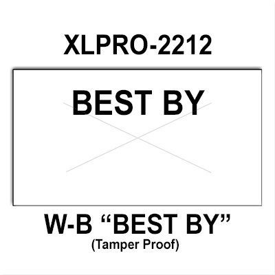 240,000 XLPro compatible 2212 ''Best By'' White General Purpose Labels to fit the XLPRO-22B, XLPRO-22C, XLPRO-22D, XLPRO-22V Price Guns. Full Case + includes 8 ink rollers. by Infinity Labels