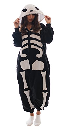 Adult-Onesie-Skeleton-Animal-Pajamas-Comfortable-Costume-with-Zipper-and-Pockets