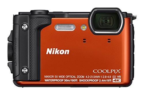 Nikon W300 Waterproof Underwater Digital Camera with TFT LCD, 3in, Orange (Renewed)