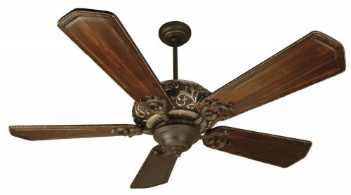 Craftmade K10327 Ophelia Ceiling Fan with Custom Carved Ophelia Walnut/Vintage Madera Blades, 52″, Aged Bronze/Vintage Madera Review
