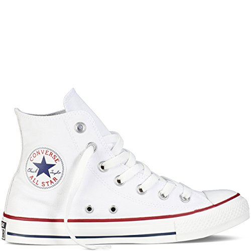 - Converse Unisex Chuck Taylor All Star Hi Top Sneaker (12 B(M) US Women/10 D(M) US Men, Optical White)