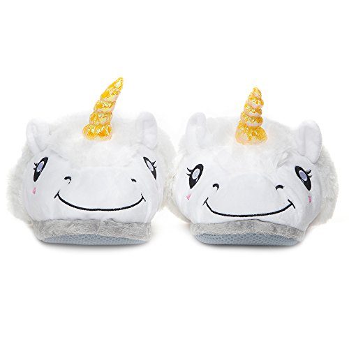 Amazon.com: Plush Unicorn Animal Slippers for Adults: Warm Novelty House Slippers for Women: Ladies Sizes 5.5-11: Toys & Games