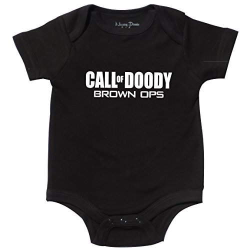 Funny Baby Clothes, Call of Doody, Brown Ops, 0-3 mo (Clothes Zombie Baby)