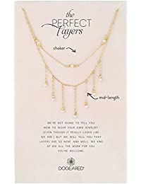 Perfect Layer, Set of 2, Sparkle with Pearls Chain Necklace