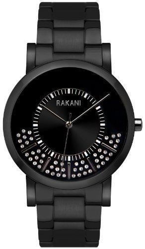 Rakani Stuck In Traffic 40mm Swarovski Crystals Watch with Black Steel Case and Band
