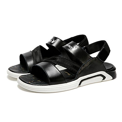 Sandalias De De Libre De Hombres Los Deportes Ocasionales De Los Hombres Antideslizantes Verano De Respirables La Sandalias Aire Nuevos De Zapatos Zapatos Los Playa Negro Sandalias Tela PU Al 6q1ZwXS